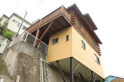 【外観】西竹之丸戸建スウェーデン式ログハウス