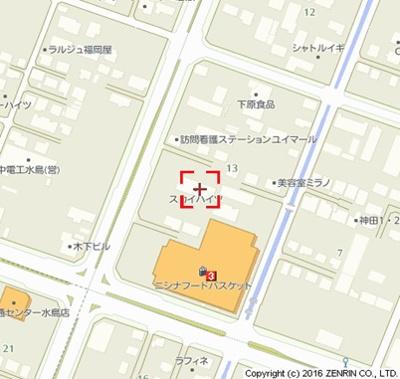 【地図】スカイハイツ