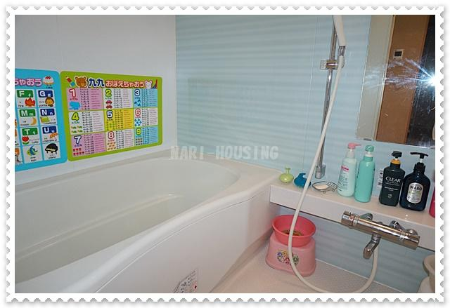 爽やかな浴室は1日の疲れを癒してくれます