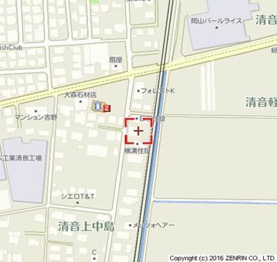 【地図】セジュール清音