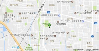 【地図】ドミール山脇 スモッティー阪急茨木店