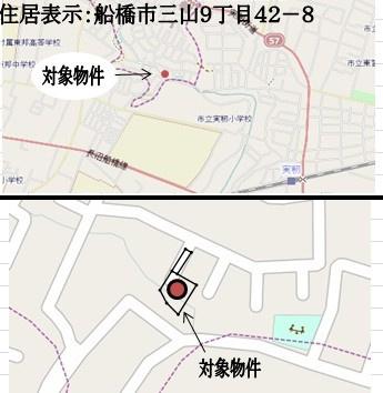 【地図】三山9丁目 土地