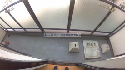 【バルコニー】グローリア八戸ノ里