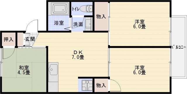 安堂駅 3DK
