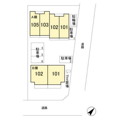【区画図】メゾン・シュシュⅠ