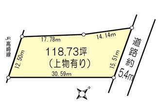 【土地図】鴻巣市加美の売地【No.2433】