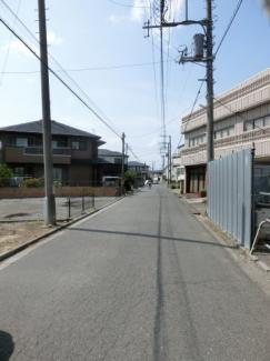 【前面道路含む現地写真】鴻巣市加美の売地【No.2433】