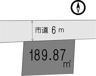 【土地図】館山市北条釜沼分譲地 NO.1