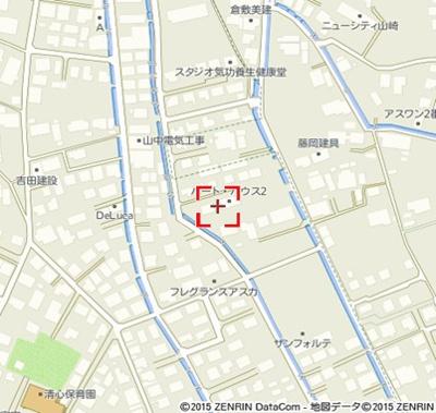 【地図】ハートハウスⅢ