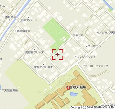 【地図】パークサイド天城