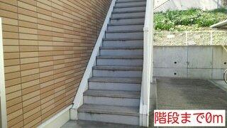 階段まで0m