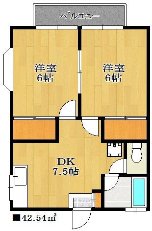オール洋室、収納もしっかりとあるお部屋です