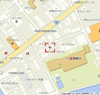 【地図】ファミーユ・ヴィラA