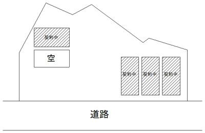 【区画図】博労町第四駐車場