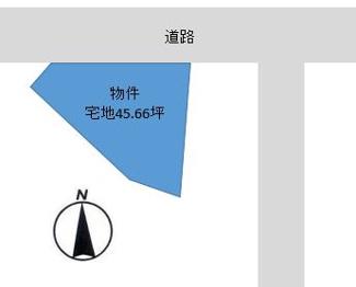 【土地図】柚津売地170万円