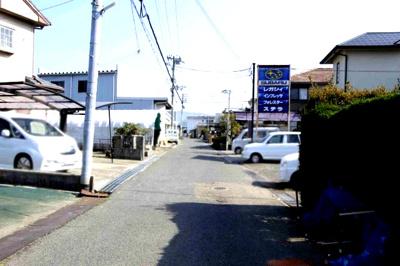 【前面道路含む現地写真】【売地】明和中学校区・56203