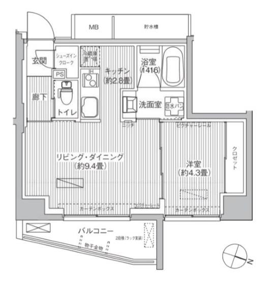40.68㎡1LDK【レーヴマニフィック本郷】