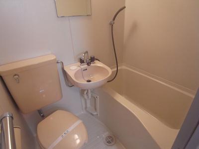 【浴室】ハ-モ二-ハイツ