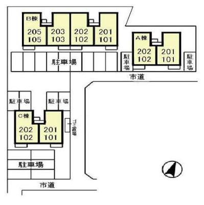 【区画図】ピュアタウン南逆井B