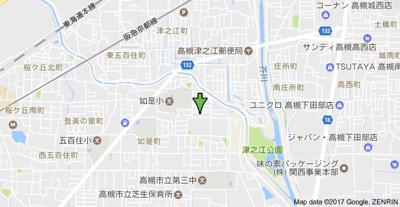 【地図】コーポ津の江 株式会社Roots