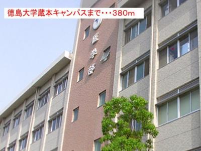 徳島大学 蔵本キャンパスまで380m