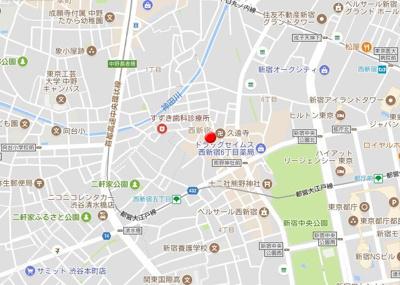 【地図】クオーレ西新宿