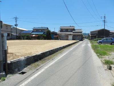 【前面道路含む現地写真】久留米市北野町今山土地