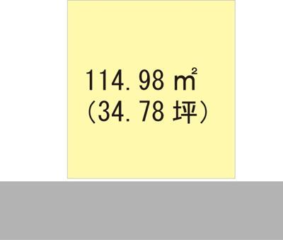 【区画図】【売地】高積中学校区・25460