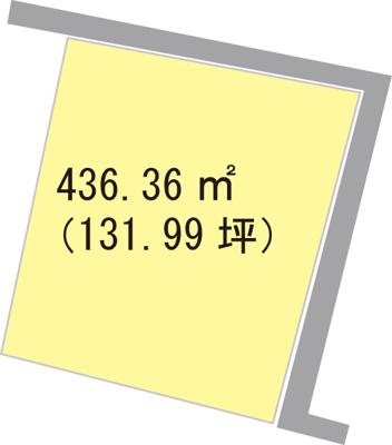 【区画図】【売地】紀伊中学校区・25526