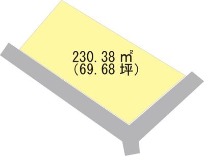 【区画図】【売地】貴志中学校区・23884