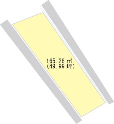 【区画図】【売地】河北中学校区・26934
