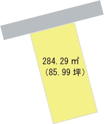 【区画図】【売地】東和中学校区・26197