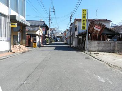 【前面道路含む現地写真】大牟田市本町一丁目土地