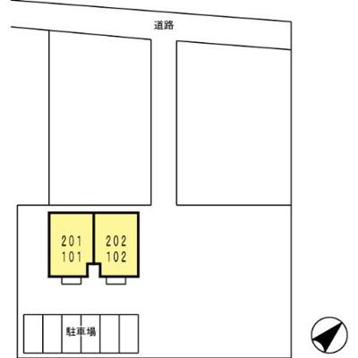 【区画図】コーポラスヒロF