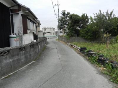 【前面道路含む現地写真】柳川市三橋町柳河土地