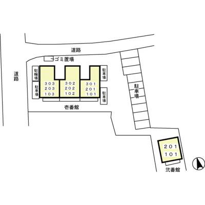 【区画図】ヴェルドミール弐番館