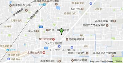 【地図】サンワロイヤルマンション2号館 (株)Roots