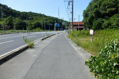 【前面道路含む現地写真】米子市宗像売土地