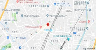 【地図】レジデンス千里丘