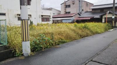 【前面道路含む現地写真】【売地】海南中学校区・55687