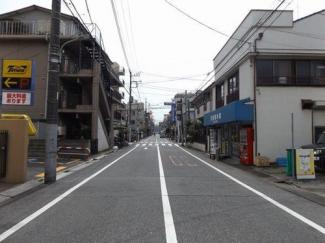 大田区多摩川1丁目の戸建 前面道路