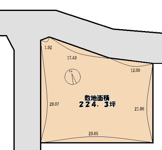 【土地図】堺市西区浜寺昭和町 売り土地