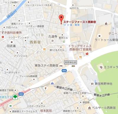 【地図】ステージファースト西新宿