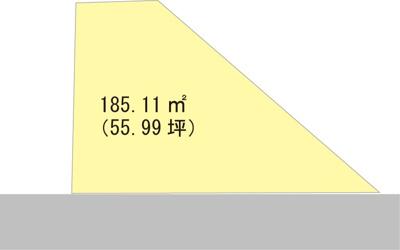 【区画図】【売地】岩出第二中学校区・56058