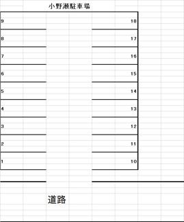 【区画図】伊澤駐車場