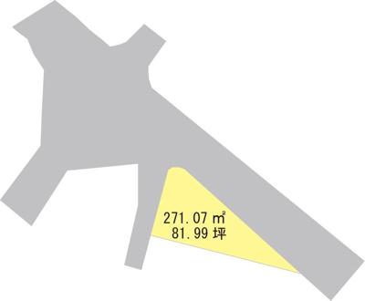 【区画図】【売地】河北中学校区・26319