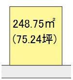 【区画図】【売地】岩出第二中学校区・29349