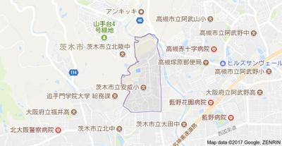 【地図】安威吉田貸家