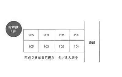 【区画図】シティパレス東住柳町