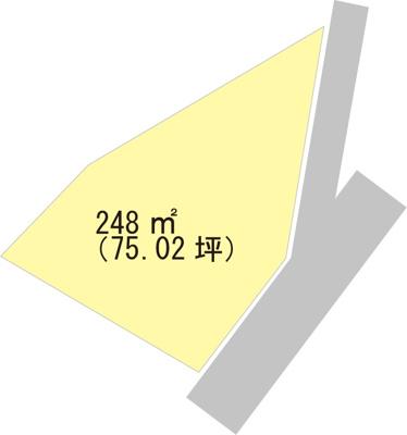 【区画図】【売地】有功中学校区・29102